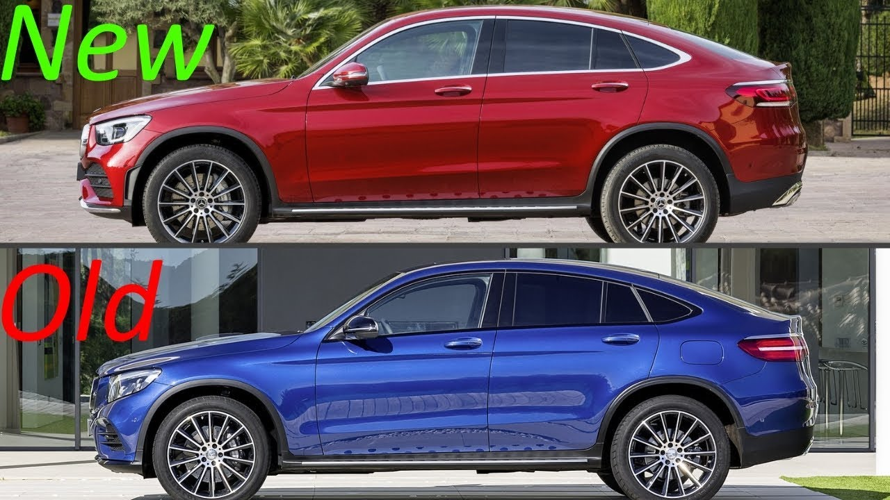 New 2020 Mercedes GLC Coupe Facelift Vs. Old Mercedes GLC ...