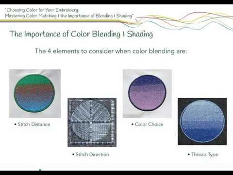 Choosing Colors for Your Embroidery: Mastering Color Matching & the Importance of Blending & Shading