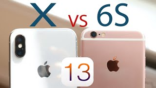 iPhone X Vs iPhone 6S On iOS 13! (Speed Comparison) (Review)