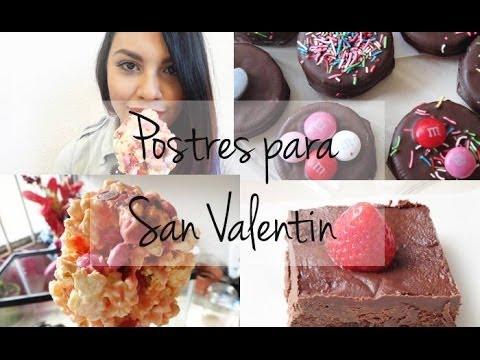 3 postres para san valent n youtube - Dulces de san valentin ...