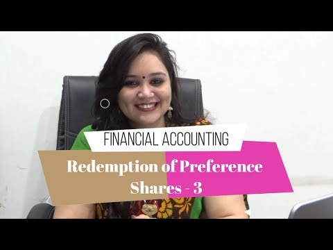 Lec 3: Redemption of Preference Shares