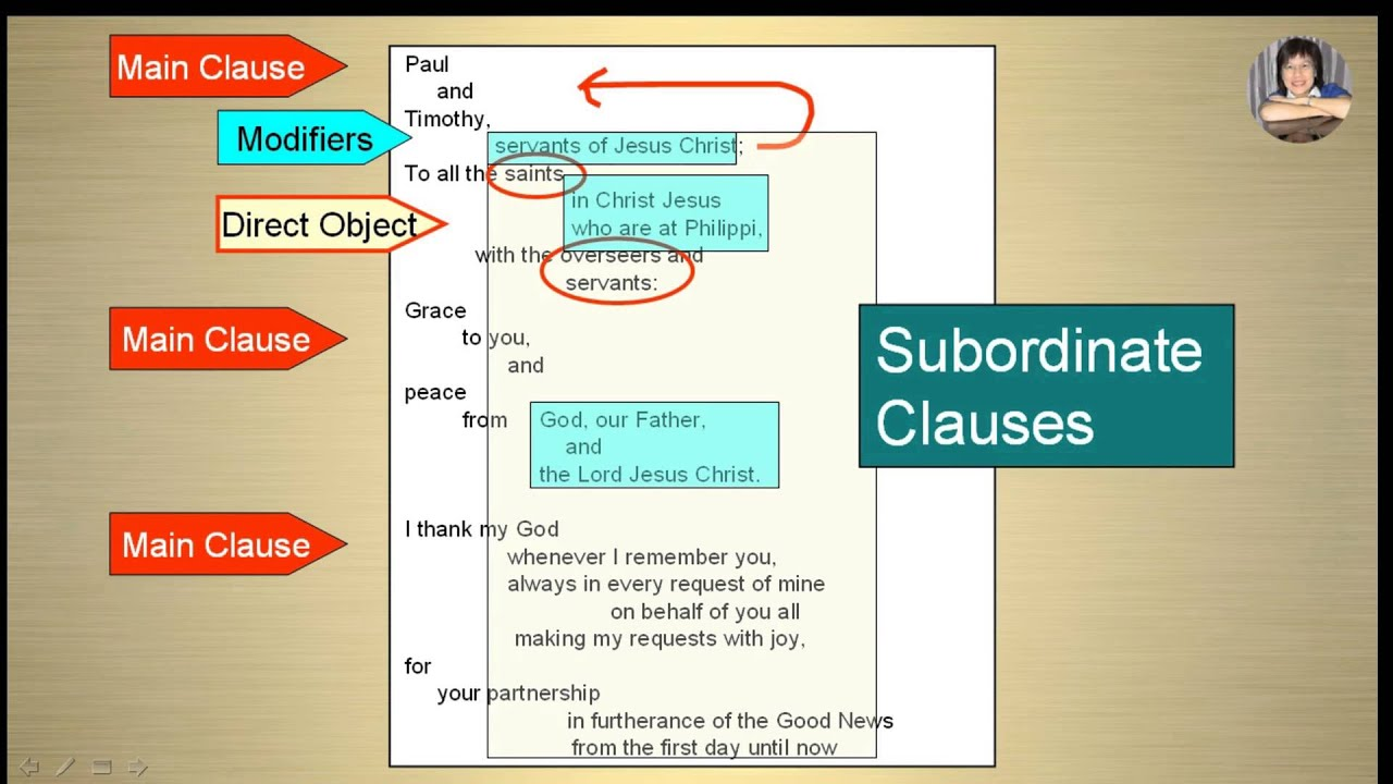 Bible Sentence Block Diagram - Main Clauses Vs Subordinate Clauses