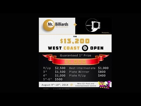 West Coast Open 8 Ball 2014 Day 2  9:30am-12pm