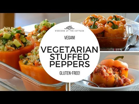 Healthy VEGETARIAN STUFFED PEPPERS Vegan | Gluten-Free