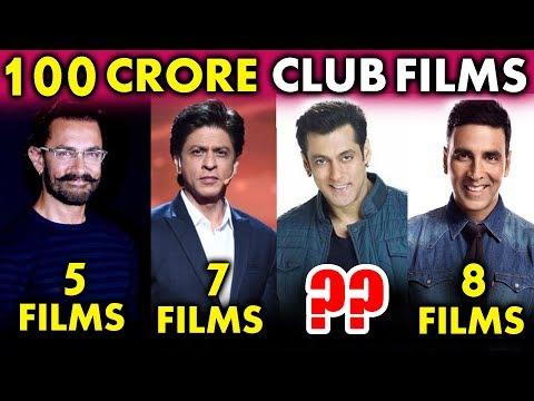 कौनसा Bollywood Actor है 100 Crore Club का KING? | Salman Khan, Shahrukh Khan, Aamir Khan, Akshay