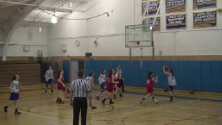 8th Grade Girls Basketball vs Hudson Mar 2012