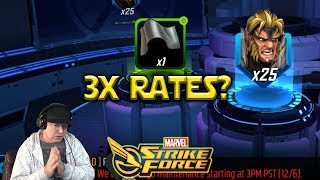 3x Drop Rates For ORBS - Sabretooth - Marvel Strike Force