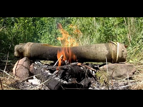 Boiling water in a bark - Stone Age Marvels #1