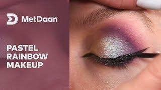 Pastel rainbow makeup | MET DAAN
