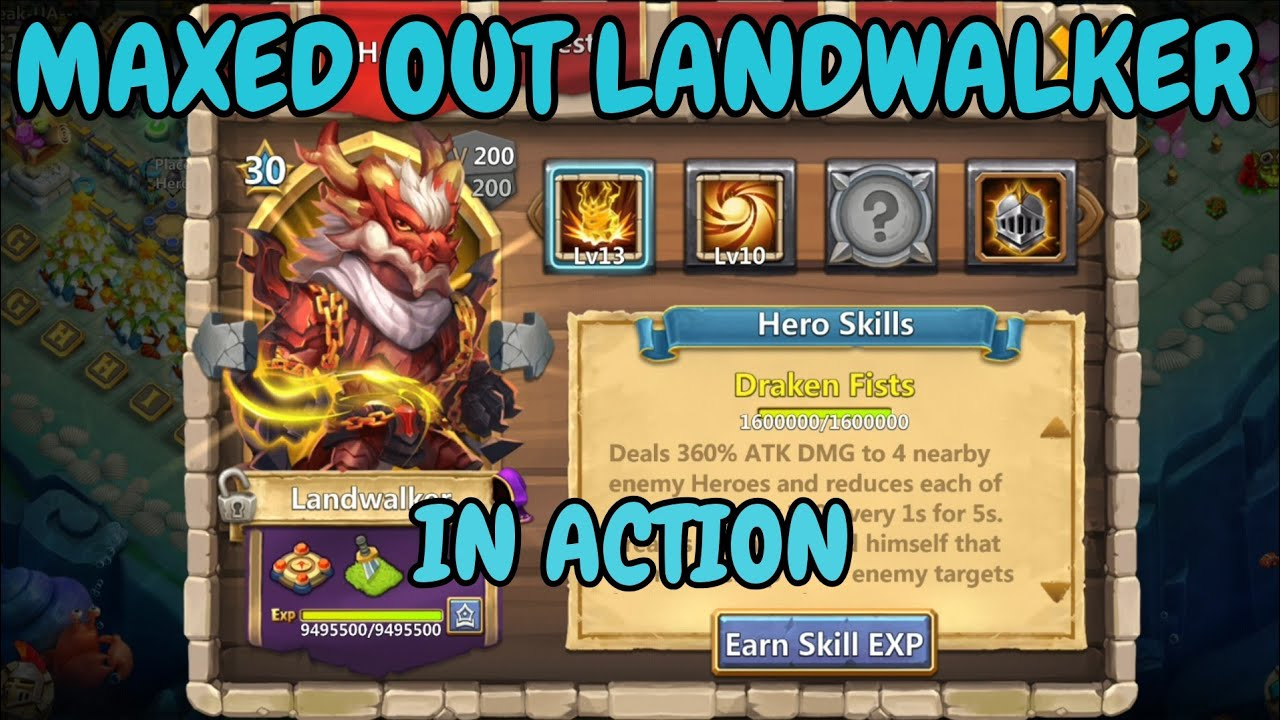 Maxed Out Landwalker Ln Action L Castle Clash Youtube
