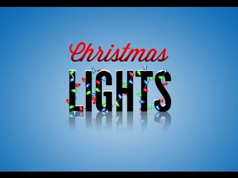 Photoshop Tutorial: Christmas Lights - YouTube