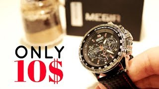 Amazing Looking Aliexpress Watch for Only 10$ || Unboxing and Review of Megir Watch