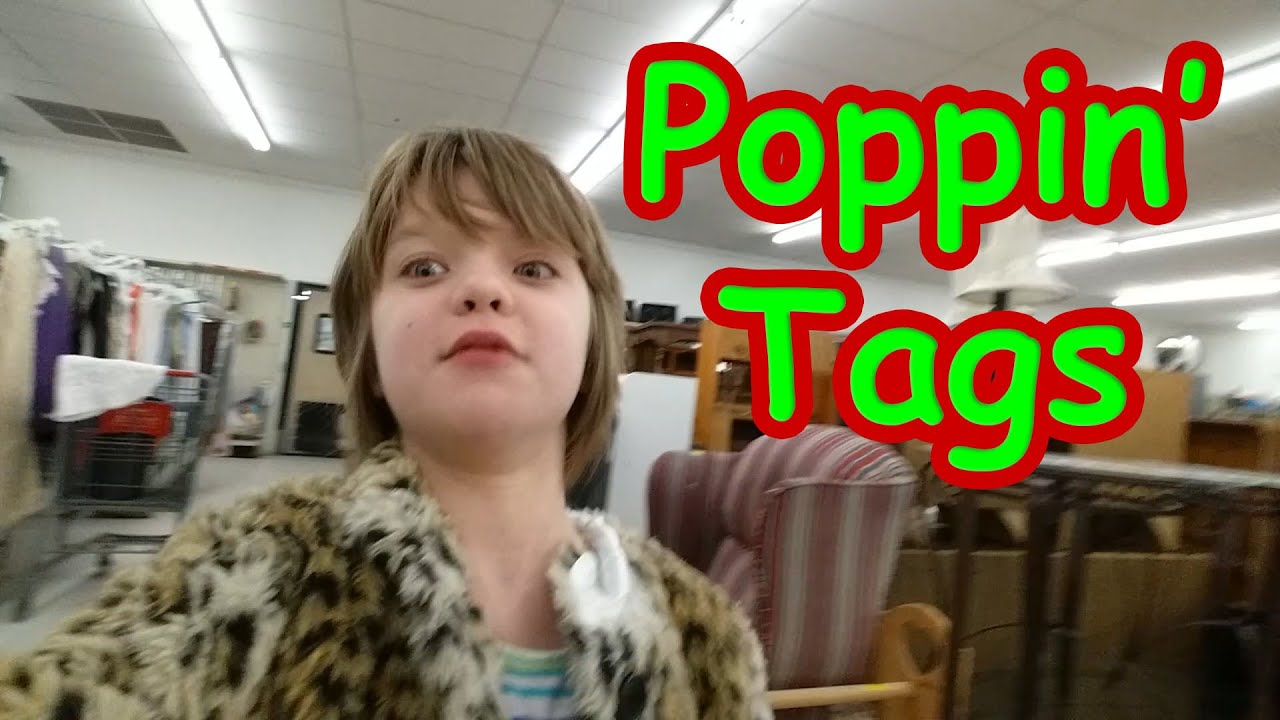 Poppin' Tags on Thrift Store Rags