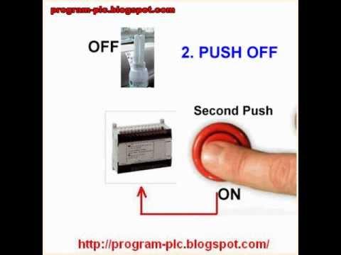 PLC Push ON Push OFF Control YouTube