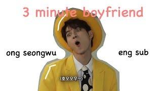 [ENG SUB/CC] WANNA ONE Ong Seong Wu 3 Minute Boyfriend | SNL 9 KOREA