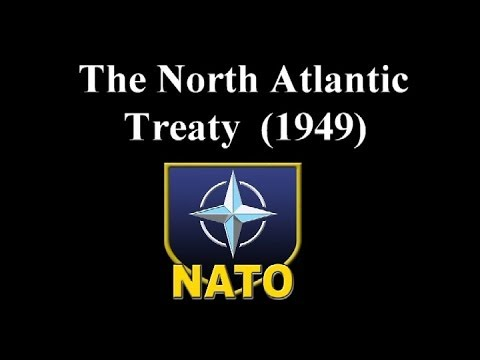 #NATO  North Atlantic Treaty which was signed on 4 April 1949