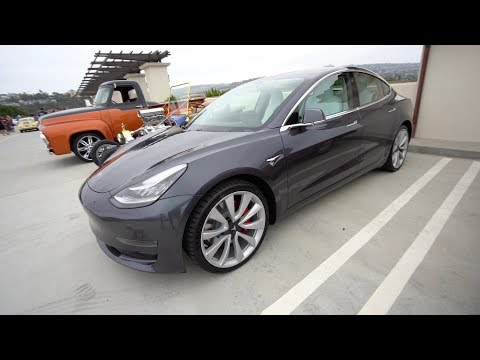 Tesla Model 3 Performance at Cars and Coffee