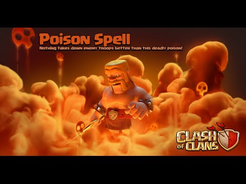 Clash of Clans - New Update! Dark Spell Factory + Poison Spell Gameplay (Sneak Peek)