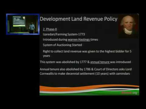 british land revenue system in india Land relations in malabar and british the province along with a judicial and revenue system started to study the land tenurial system in india.