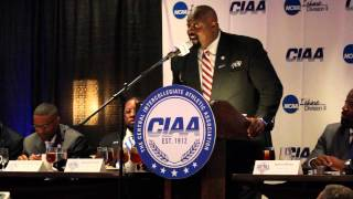 CIAA Media Day with Coach Mark James