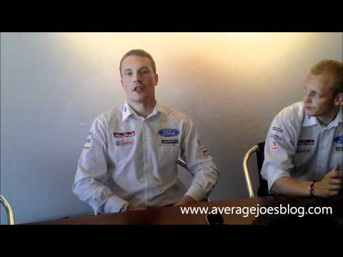 Interview with Jari-Matti Latvala and Mikko Hirvonen just before the start of the Finland WRC
