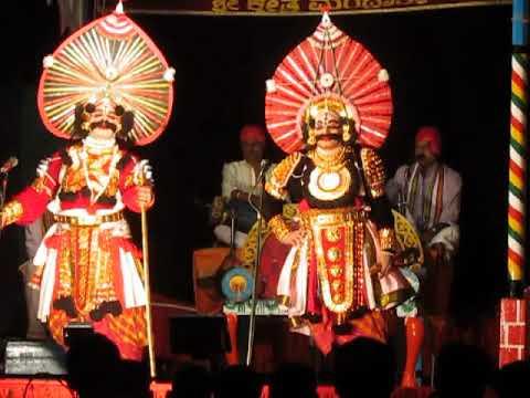 Yakshagana - karnarjuna - mandarthi mela - Naradi , Ajri , Haradi , Bedradi - part 1