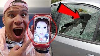 CRASHED GIRLFRIEND'S CAR PRANK!!