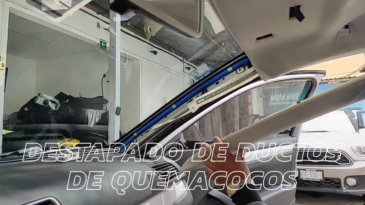 Destapado de ductos de quemacocos con vapor VW Passat