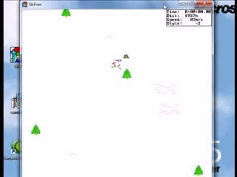 Ski Free Windows 95 Gameplay Youtube