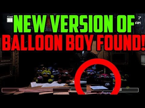 Five Nights at Freddys 2: New Version Of Balloon Boy Found?! NEW IMAGE!