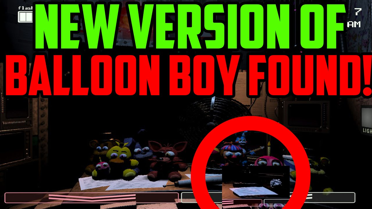 Five nights at freddy s 2 new version of balloon boy found new