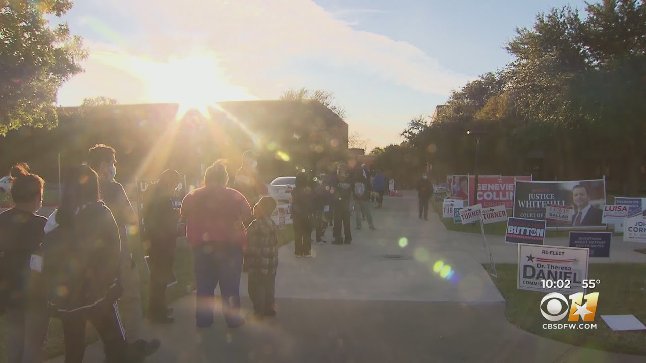 North Texans Wait In Long Lines On Final Day Of Early Voting