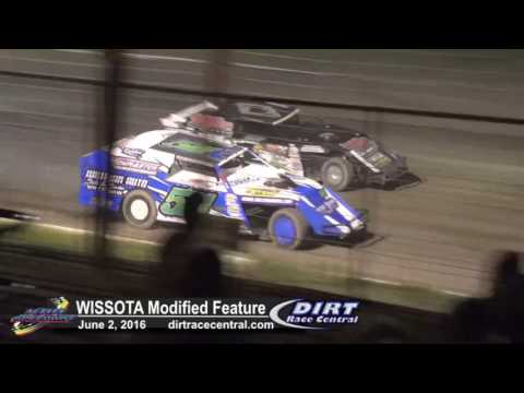 KRA Speedway 6/2/16 WISSOTA Modified feature race for the lead