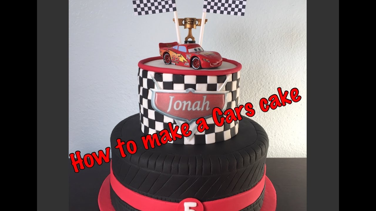 diy disney cars cake