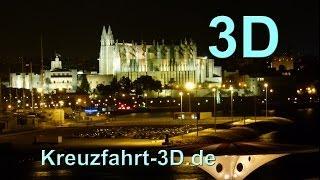 3D-Video: AIDA Reisebericht Mittelmeer Kreuzfahrt - Tag 1 - Palma de Mallorca (Spanien) mit AIDAmar