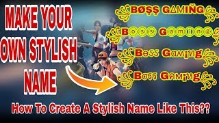 Download How To Make Stylish Names In Freefire MP3, MKV, MP4