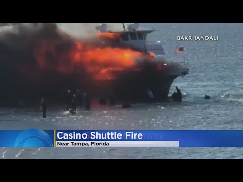 Video Shows People Jumping From Burning Casino Boat