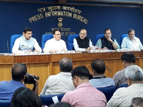 Finance Minister, Arun Jaitley briefs media on Cabinet decisions: NewsPoint TV
