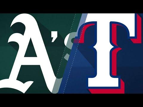 Davis' heroics vault A's over Rangers: 7/25/18
