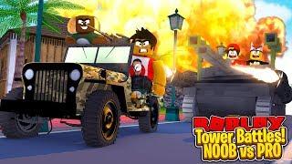 ROBLOX - TOWER BATTLES - NOOB Vs PRO!!!