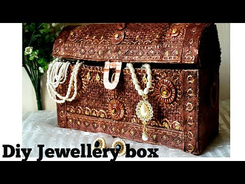 Jewellery box diy I How to make antique cardboard jewellery
