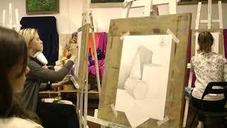 Уроки живописи и основы рисунка с нуля в студии