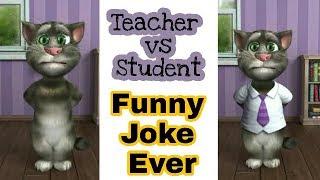 Crazy Teacher - VS - Student / Talking Tom Funny Video / FUNKYPEDIA
