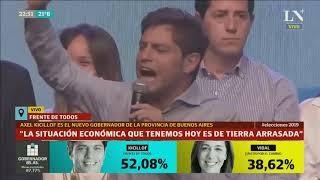 Discurso completo de Axel Kicillof tras su contundente triunfo sobre Vidal - Elecciones 2019