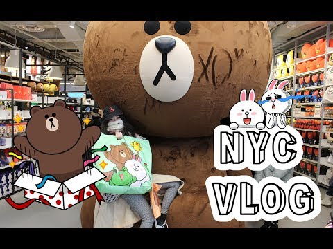 NYC VLOG: LINE FRIENDS STORE, BOOK OFF, KINOKUNIYA, KBBQ