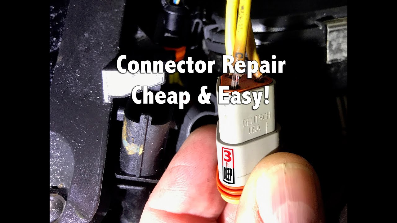gm one wire alternator wiring diagram switch and outlet how to connector repair youtube