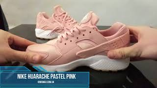 Живой видео обзор кроссовки Nike Huarache Pink White (реплика)