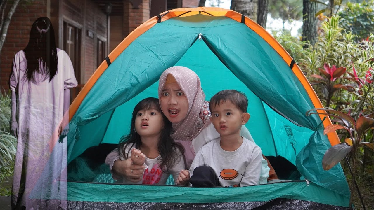 PRANK PENAMPAKAN 😱 GAGAL CAMPING 24 JAM DALAM TENDA | Salsa and Family