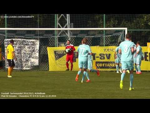 Sachsenpokal: Post SV Dresden - Chemnitzer FC 0:9 (0:5), Achtelfinale am 12.10.2014