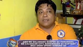 Father of suspect in Caloocan shooting calls for his sons to surrender.